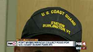 Fort Myers Miracle collect food for U.S. Coast Guard [Video]