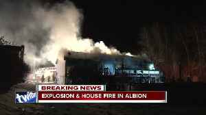 Elderly couple injured in possible house explosion in Albion [Video]