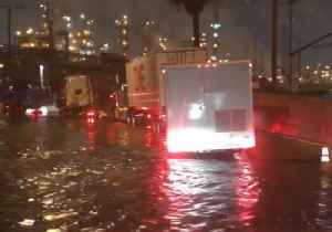Roads Flooded Near Long Beach as California Braces For More Wet Weather [Video]