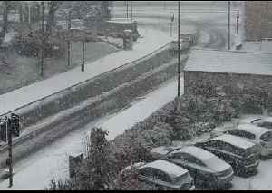 Snow Blankets Newcastle as Weather Warning in Place for Northeast of England [Video]
