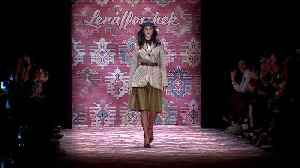 Lena Hoschek shows dresses with masculine retro twist [Video]