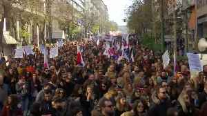 Students and police clash in Athens as teachers protest reforms [Video]