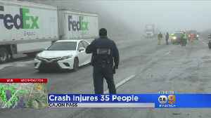 Cajon Pass Crash Injures 35 People [Video]