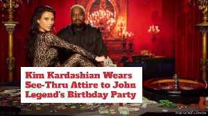 Kim Kardashian Goes Over The Top Sexy For John Legend Birthday Bash [Video]