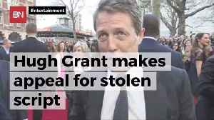 Hugh Grant Wants Script Stolen From His Car Back [Video]