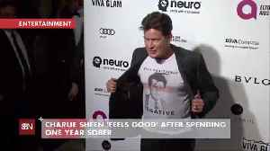 Charlie Sheen Celebrates His One Year Sober Anniversary [Video]