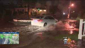 Heavy Rain Causes Major Flooding In Seal Beach [Video]