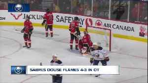 Sabres douse the Flames, win in OT [Video]