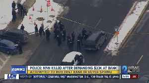 Attempted bank robber shot, killed by Montgomery County Police [Video]