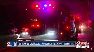 60 people displaced Wednesday after apartment fire [Video]