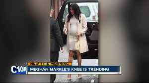 Why is Meghan Markle's knee trending? [Video]