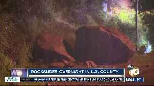 Rockslides cause damage in LA County [Video]