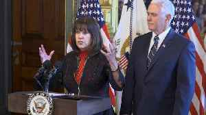 News video: Mike Pence's Wife Karen Pence Works at School That Excludes LGBTQ+ People
