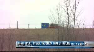 High speed chase ends with officers injured [Video]