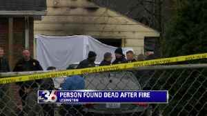 Firefighters find body after garage fire [Video]