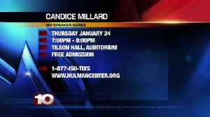 Candice Millard, Tilson Hall ISU Speaker, Jan 24th [Video]