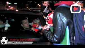 Lukas Podolski Mobbed By Fans Driving his Mercedes CL after (2-0) Victory against WBA 2012 [Video]