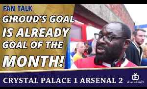 Giroud's Goal Is Already Goal Of The Month!  | Crystal Palace 1 Arsenal 2 [Video]
