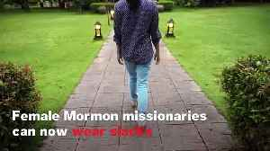 Female Mormon Missionaries Can Now Wear Slacks [Video]