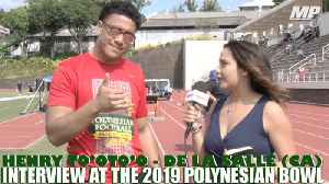 Henry To'oto'o interview at the Polynesian Bowl [Video]