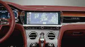 Bentley Continental GT Convertible - Bentley Rotating Display Graphical Overlay [Video]