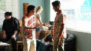 Ken Jeong and Jay Hernandez Rock Matching Shirts on 'Magnum P.I.' (Exclusive) [Video]