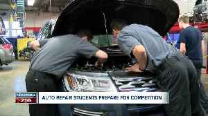 Auto repair students tune up skills for big competition [Video]