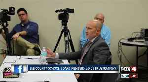 Lee County School Board speak out, following letter questioning Superintendent Adkins's ability to lead [Video]