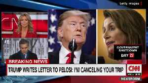 Trump Cancels Pelosi's Trip [Video]