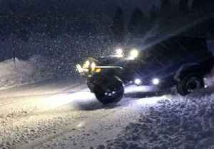 Man Takes Jeep For a 'Spin' on Slippery Road in California [Video]