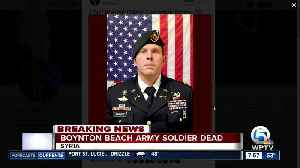 Soldier from Boynton Beach among 4 Americans killed in Syria [Video]