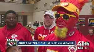 Fans can't contain excitement about AFC Championship [Video]