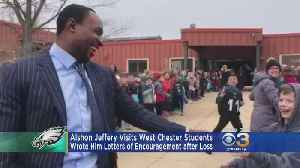 Alshon Jeffery Visits West Chester Students [Video]