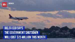 Delta Says Shutdown Is Costing 25 Million A Month [Video]