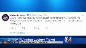 Winning Lottery Ticket Goes To Monument Resident [Video]
