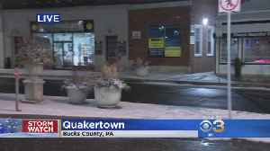 Checking Snow Conditions In Bucks County [Video]