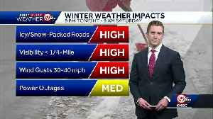 First Alert: Rain, then snow to move in Friday night [Video]