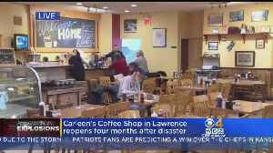 Carleen's Coffee Shop Opens For First Time Since Merrimack Valley Explosions [Video]