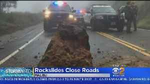 Roads Still Closed All Over Malibu After Storm Brings Down Rocks, Boulders [Video]