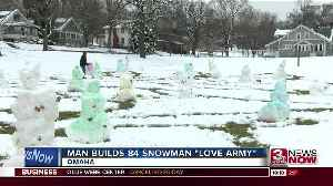 UNO student builds 84 snowmen [Video]