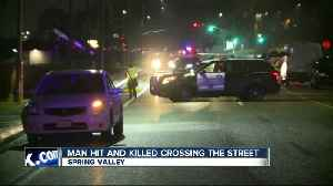 Pedestrian hit by car, killed on Spring Valley street [Video]