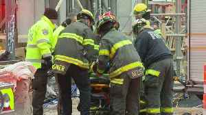 Fire Crews Rescue Worker Who Fell In 15-Foot Trench [Video]