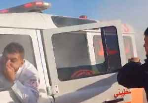 Occupants Flee Red Crescent Ambulance Hit With Tear Gas During Gaza Clashes [Video]