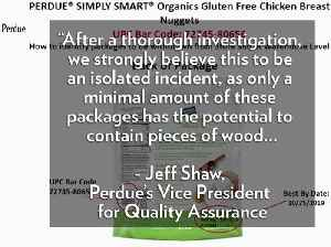 Perdue Recalls Chicken Nuggets After Customers Report Finding Wood Pieces in Them [Video]