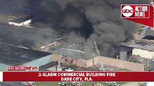 2-alarm fire destroys commercial building in Dade City [Video]
