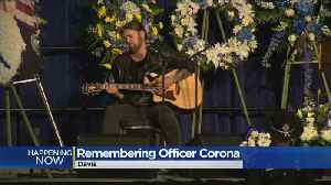 Thousands Gather At Memorial For Slain Davis Officer Natalie Corona [Video]