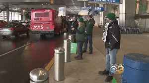Furloughed Workers Protest Outside Of Philadelphia International Airport [Video]