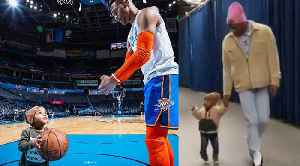 Russell Westbrook And His ADORABLE Son Do Pregame Workout & Show Off Matching Outfits! [Video]