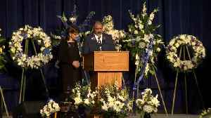 Slain Officer Natalie Corona's Father Speaks At Her Funeral [Video]