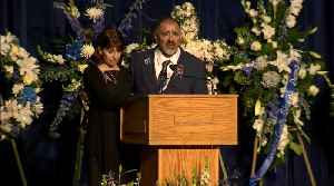 Raw Video: Officer Natalie Corona's Father Speaks At Memorial [Video]